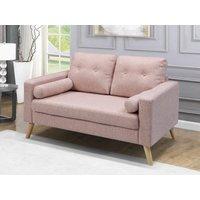 Sofá de 2 plazas de tela con efecto lana TATUM - Rosa