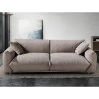 Sofá de 3 plazas de tela VAVIN - Gris arenoso