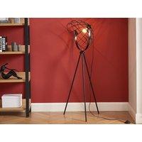 Lámpara VIRTUA - metal negro - 41 x 41 x 131 cm