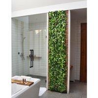 Revestimiento mural de vegetal sintético IKAZ - Pack dm² - Verde