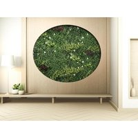 Revestimiento mural de vegetal sintético LAHTI - Pack de dm² - Verde