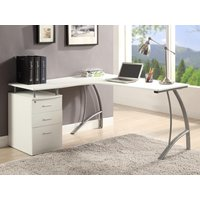 Mesa de ordenador ANTINOE - Blanco