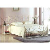 Estructura de cama + somier IMPERATRICE - 180x200 cm