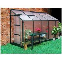 Invernadero de jardín mural en policarbonato de 3.7 m² CALICE II con base - Verde