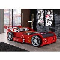 Cama coche RUNNER con cajón - 90x200 cm - Rojo