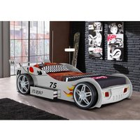 Cama coche RUNNER con cajón - 90x200 cm - Blanco