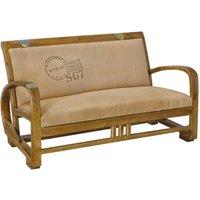 Sofá vintage de tela TRAVEL - Beige
