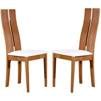 Conjunto de 2 sillas SALENA - Haya maciza - Color roble