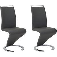 Conjunto de 2 sillas TWIZY - Piel sintética - Negro
