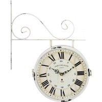 Reloj de pared doble cara FAUBOURG - Hierro - Largo 44 x Altura 34 cm