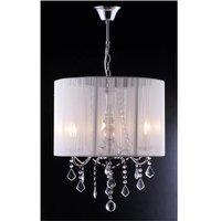 Lámpara de techo TOSCANI de hilos blancos - Colgantes de cristal