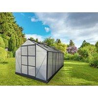 Invernadero de jardín de policarbonato de 13m² KALIDA con base - Antracita