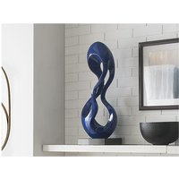 Escultura CECILIA de resina azul oscuro - Largo 25 x Alt. 79 cm.