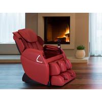 Sillón de masaje LETO de piel sintética - Sistema gravedad cero - Rojo