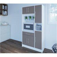 Aparador de cocina MADY - 5 puertas y 1 cajón - Color gris