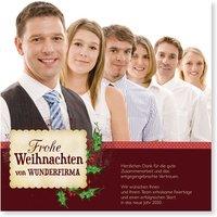 Weihnachtskarten Firmen / Weihnachtskarten geschäftlich | Wunderkarten