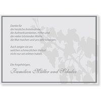 Trauer Dankeskarten / Danksagungskarten Trauer gestalten | Versandfertig in 24 h