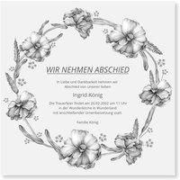 Einladungskarten Trauerfeier / Einladung zur Trauerfeier gestalten | Versandfertig in 24 h