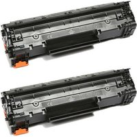 2 Pack - Compatible Canon 137 Toner Cartridge, Black (9435B001AA)