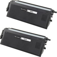 2 Pack - Compatible Brother TN570 Toner Cartridge, Black, High Yield