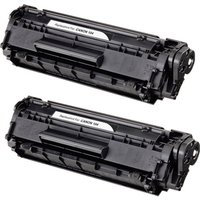 2 Pack - Compatible Canon 104 Toner Cartridge, Black (0263B001AA)