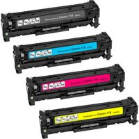 4 Pack - Compatible Canon 118 Toner Cartridge Set, Package Includes 1 Black, 1 Cyan, 1 Magenta and 1 Yellow Toner Cartridge
