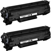 2 Pack - Compatible Canon 125 Toner Cartridge, Black (3484B001AA)