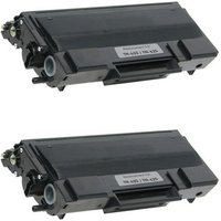 2 Pack - Compatible Brother TN650 Toner Cartridge, Black, High Yield