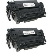 2 pack - Compatible Replacement For HP 11A Toner Cartridge, Black (Q6511A)