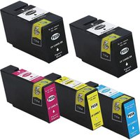 5 Pack - Compatible Canon PGI-1200XL Ink Cartridges Black and Color Set, High Yield, Package Includes 2 Black, 1 Cyan, 1 Magenta and 1 Yellow Ink Cartridge