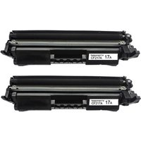 2 Pack - Compatible Replacement For HP 17A Toner Cartridge, Black (CF217A) - with Chip