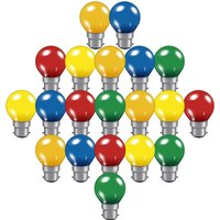 Crompton Lamps 15W Festoon Golfball B22 Dimmable (20 Pack) Mixed