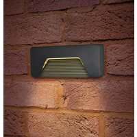 Integral LED Brick Light 3W Pathlux Brick Warm White Dark Grey