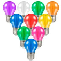 Crompton Lamps LED Festoon Golfball 4.5W E27 Harlequin (10 Pack) Mixed Translucent