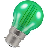 Crompton Lamps LED Golfball 4.5W B22 Harlequin IP65 Green Translucent