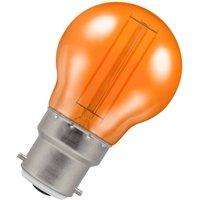 Crompton Lamps LED Golfball 4.5W B22 Harlequin IP65 Orange Translucent