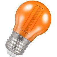 Crompton Lamps LED Golfball 4.5W E27 Harlequin IP65 Orange Translucent