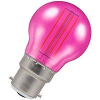 Crompton Lamps LED Golfball 4.5W B22 Harlequin IP65 Pink Translucent