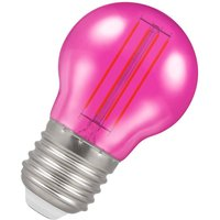 Crompton Lamps LED Golfball 4.5W E27 Harlequin IP65 Pink Translucent