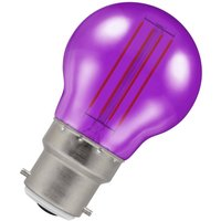 Crompton Lamps LED Golfball 4.5W B22 Harlequin IP65 Purple Translucent
