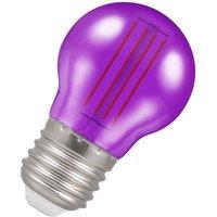 Crompton Lamps LED Golfball 4.5W E27 Harlequin IP65 Purple Translucent
