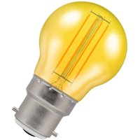 Crompton Lamps LED Golfball 4.5W B22 Harlequin IP65 Yellow Translucent