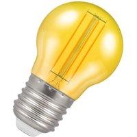 Crompton Lamps LED Golfball 4.5W E27 Harlequin IP65 Yellow Translucent