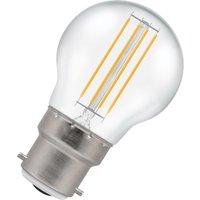 Crompton Lamps LED Golfball 4.5W B22 Harlequin IP65 Warm White Clear