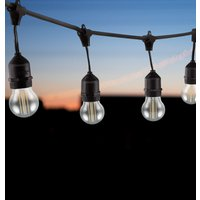 Premium 10m Connectible Outdoor Festoon Light E27 with 20x LED Golfball Light Bulbs Cool White