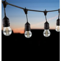 Premium 20m Connectible Outdoor Festoon Light E27 with 40x LED Golfball Light Bulbs Cool White