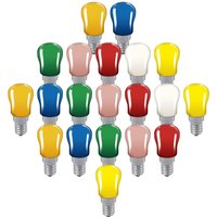 Crompton Lamps 15W Festoon Pygmy E14 Dimmable (20 Pack) Mixed
