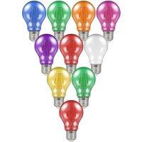 Crompton Lamps LED Festoon GLS 4.5W E27 Harlequin (10 Pack) Mixed Translucent