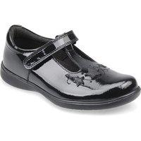 Star Jump, Black patent girls riptape t-bar school shoes