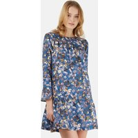 Multi Floral Pep hem Dress